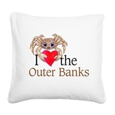I heart OBX.png Square Canvas Pillow