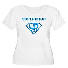 Superbitch Blue Plus Size T-Shirt