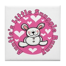 Auntie's Snuggle Bunny Tile Coaster