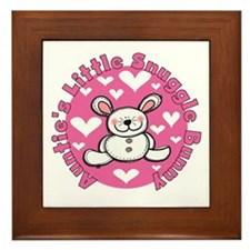 Auntie's Snuggle Bunny Framed Tile