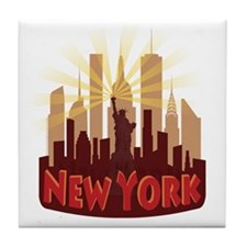 new york 7 newwave hot Tile Coaster