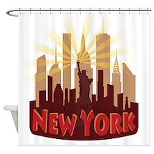 new york 7 newwave hot Shower Curtain