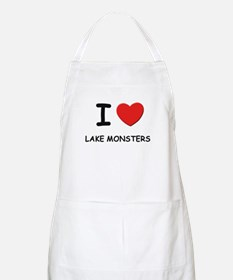I love lake monsters BBQ Apron