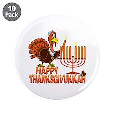 "Happy Thanksgivukkah 3.5"" Button (10 pack)"