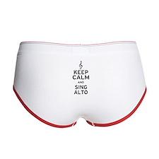 Keep Calm Sing Alto Women's Boy Brief