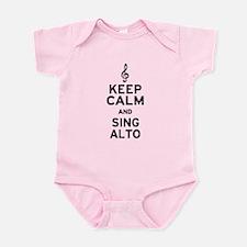 Keep Calm Sing Alto Infant Bodysuit
