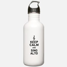 Keep Calm Sing Alto Water Bottle