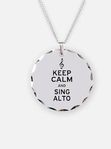 Keep Calm Sing Alto Necklace