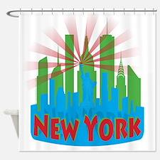 new york 7 newwave primary Shower Curtain