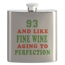 Funny 93 And Like Fine Wine Birthday Flask