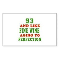Funny 93 And Like Fine Wine Birthday Decal