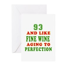 Funny 93 And Like Fine Wine Birthday Greeting Card