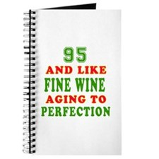 Funny 95 And Like Fine Wine Birthday Journal
