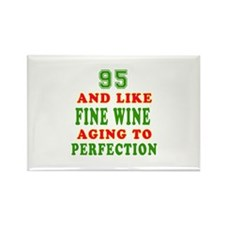Funny 95 And Like Fine Wine Birthday Rectangle Mag