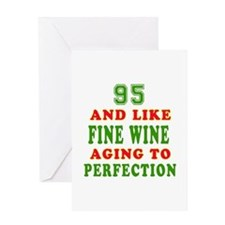 Funny 95 And Like Fine Wine Birthday Greeting Card
