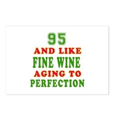 Funny 95 And Like Fine Wine Birthday Postcards (Pa
