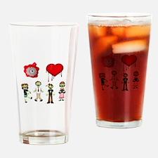Eye Heart Zombies Drinking Glass