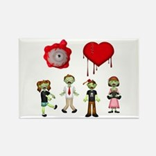 Eye Heart Zombies Rectangle Magnet