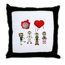 Eye Heart Zombies Throw Pillow
