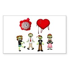 Eye Heart Zombies Decal