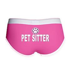 Pet Sitter Purple Circle Paw Women's Boy Brief