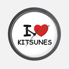 I love kitsunes Wall Clock