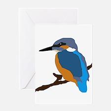kingfisher bird waiting for love peace joy Greetin