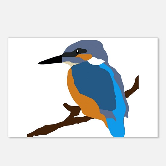 kingfisher bird waiting for love peace joy Postcar