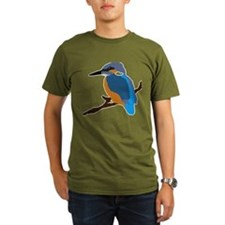 kingfisher bird waiting for love peace joy T-Shirt