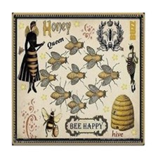 Bees Tile Coaster