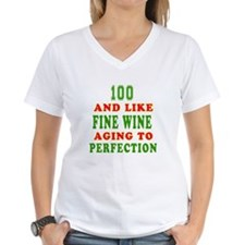 Funny 100 And Like Fine Wine Birthday Shirt