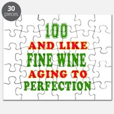 Funny 100 And Like Fine Wine Birthday Puzzle