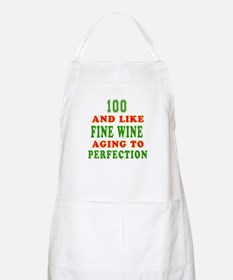 Funny 100 And Like Fine Wine Birthday Apron