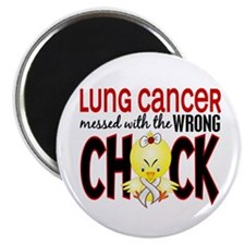 Lung Cancer Messed w/Wrong Chick Magnet