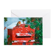Cool Red post box Greeting Card