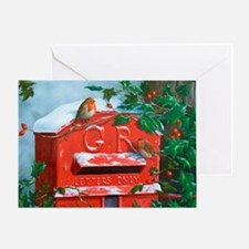 Unique Red post box Greeting Card