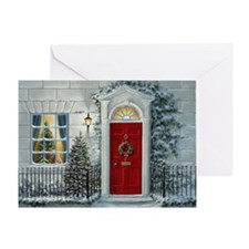 Cute White house christmas Greeting Card