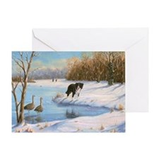 Cute Border collie christmas Greeting Card