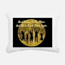 Send Trump To The Moon Rectangular Canvas Pillow