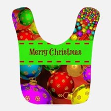 Merry Christmas, Colorful Christmas Ornament J Bib