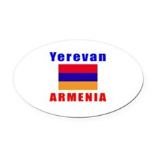 Yerevan Armenia Designs Oval Car Magnet
