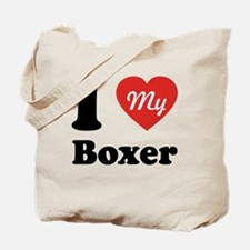 I Heart My Boxer Tote Bag