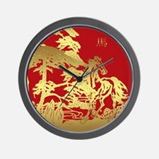 Chinese New Year, Year Of Horse Wall Clock