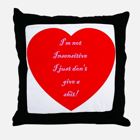 V-Insensitive Throw Pillow