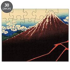Rainstorm on Mount Fuji by Hokusai Puzzle