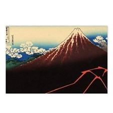 Rainstorm on Mount Fuji b Postcards (Package of 8)