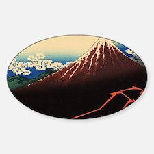 Rainstorm on Mount Fuji by Hokusai Decal