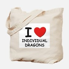 I love individual dragons Tote Bag