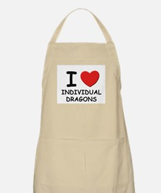 I love individual dragons BBQ Apron