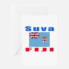 Suva Fiji Designs Greeting Card